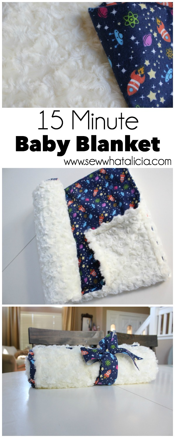 15 Minute Baby Minky Blanket Sew What Alicia