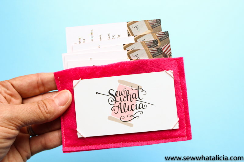Felt business card holder tutorial sew what alicia for 4over business cards