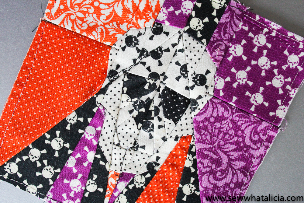 Skull Quilt Block Paper Piecing Pattern Sew What Alicia